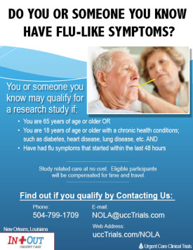 Urgent Care New Orleans - Flu Clinical Trial Study