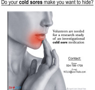 Urgent Care New Orleans Cold Sores clinical research