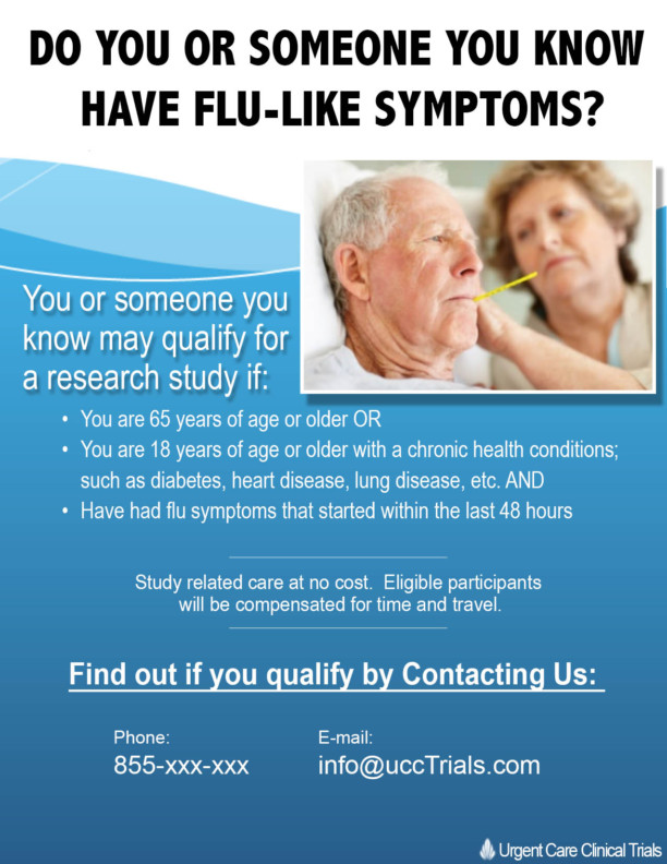 Adult Flu Clinical Trial Study